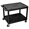 Luxor 27 Plastic Shelf Cart & Stand LUX LP27-B