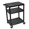 Luxor 34H AV Cart - Three Shelves LUX LP34-B
