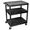 Luxor 40 Plastic Shelf Cart & Stand LUX LP40-B