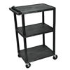 Luxor 42 Plastic Shelf Cart & Stand LUX LP42E-B
