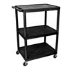 Luxor 48 Plastic Shelf Cart & Stand LUX LP48-B