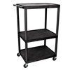 Luxor 54H AV Cart - 3 Large Shelves, Electric LUX LP54-B
