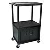 Luxor 54 Plastic Shelf Cart & Stand LUX LP54C-B