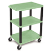 Janitorial Carts, Trucks, and Utility Carts: Luxor - Specialty Utility 3-Shelf Cart