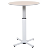 Tables: Luxor - Pneumatic Adjustable Round Pedestal Table
