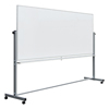 "dry erase boards: Luxor - Double-Sided Magnetic Whiteboard 96"" x 40"""