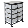 Shelving and Storage: Luxor - Mobile Bin System - Double Row