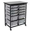 Shelving and Storage: Luxor - Mobile Bin System - DoubleRow