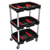 tool storage: Luxor - 3 Shelf Mechanics Cart
