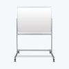 dry erase boards: Luxor - Double-Sided Mobile Magnetic Glass Marker Board