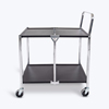 Luxor 2 Shelf Collapsible Metal Cart LUXMSCC-2