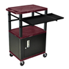 Luxor 42 Presentation Cart With Cabinet, Pullout Shelves, and Electric LUX WTPSLP42BYC2E-B