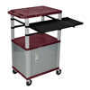 Luxor 42 Presentation Cart With Cabinet, Pullout Shelves, and Electric LUX WTPSLP42BYC4E-N