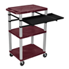 Luxor 42 Tuffy Presentation Station With Pullout Shelves and Electric LUX WTPSLP42BYE-N