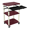 Luxor 42 Tuffy Presentation Station With Pullout Shelves and Electric LUX WTPSLP42BYE