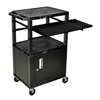 Luxor 42 Tuffy Presentation Station with Locking Cabinet, Pullout Shelves, and Electric LUX WTPSLP42C2E-B