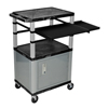 Luxor 42 Tuffy Presentation Station with Locking Cabinet, Pullout Shelves, and Electric LUX WTPSLP42C4E-N