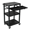 Luxor 42 Tuffy Presentation Station With Pullout Shelves and Electric LUX WTPSLP42E-B