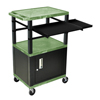 Luxor 42 Presentation Cart With Cabinet, Pullout Shelves, and Electric LUX WTPSLP42GC2E-B
