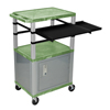 Luxor 42 Presentation Cart With Cabinet, Pullout Shelves, and Electric LUX WTPSLP42GC4E-N