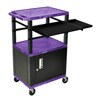 Luxor 42 Presentation Cart With Cabinet, Pullout Shelves, and Electric LUX WTPSLP42PC2E-B