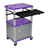 Luxor 42 Presentation Cart With Cabinet, Pullout Shelves, and Electric LUX WTPSLP42PC4E-N