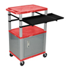 Luxor 42 Presentation Cart With Cabinet, Pullout Shelves, and Electric LUX WTPSLP42RC4E-N