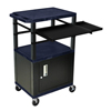 Luxor 42 Presentation Cart With Cabinet, Pullout Shelves, and Electric LUX WTPSLP42ZC2E-B