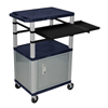 Luxor 42 Presentation Cart With Cabinet, Pullout Shelves, and Electric LUX WTPSLP42ZC4E-N