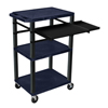 Luxor 42 Tuffy Presentation Station With Pullout Shelves and Electric LUX WTPSLP42ZE-B