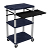 Luxor 42 Tuffy Presentation Station With Pullout Shelves and Electric LUX WTPSLP42ZE-N