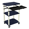 Luxor 42 Tuffy Presentation Station With Pullout Shelves and Electric LUX WTPSLP42ZE