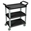 Janitorial Carts, Trucks, and Utility Carts: Luxor - 3-Shelf Utility Cart - 200 lb Capacity