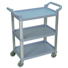 utility carts, trucks and ladders: Luxor - 3-Shelf Utility Cart - 200 lb Capacity