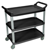 Luxor 3-Shelf Utility Cart - 300 lb Capacity LUX SC13-B