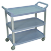 Janitorial Carts, Trucks, and Utility Carts: Luxor - 3-Shelf Utility Cart - 300 lb Capacity