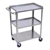 Carts, Trucks: Luxor - Stainless Steel Utility 3-Shelf Cart