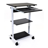 Luxor Mobile 3 Shelf Adjustable Stand Up Workstation LUX STAND-WS30