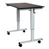 Luxor Crank Adjustable Stand Up Desk LUX STANDCF48-AG/BO
