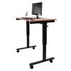 computer workstations: Luxor - Crank Adjustable Stand Up Desk