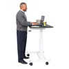 Luxor 40 Single Column Crank Stand Up Desk LUX STANDUP-SC40-WB