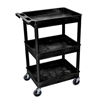 Luxor 3-Shelf Tub Cart LUX STC111-B