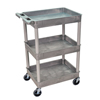 Luxor 3-Shelf Tub Cart LUX STC111-G