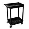 Luxor 2-Shelf Tub Cart LUX STC11-B