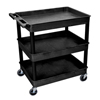 Luxor 3-Shelf Tub Cart LUX TC111-B