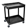 Luxor 2-Shelf Tub Cart LUX TC11-B