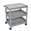 Luxor 3-Shelf Tub Cart LUX TC211-G