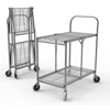utility carts, trucks and ladders: Luxor - Two-Shelf Collapsible Wire Utility Cart