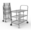 Luxor Three-Shelf Collapsible Wire Utility Cart LUX WSCC-3