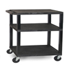 "utility carts, trucks and ladders: Luxor - 3-Shelf Tuffy Cart - 34"" Tall"